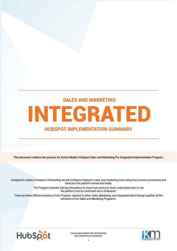Kudos Media Hubspot Integrated Implementation Program-1