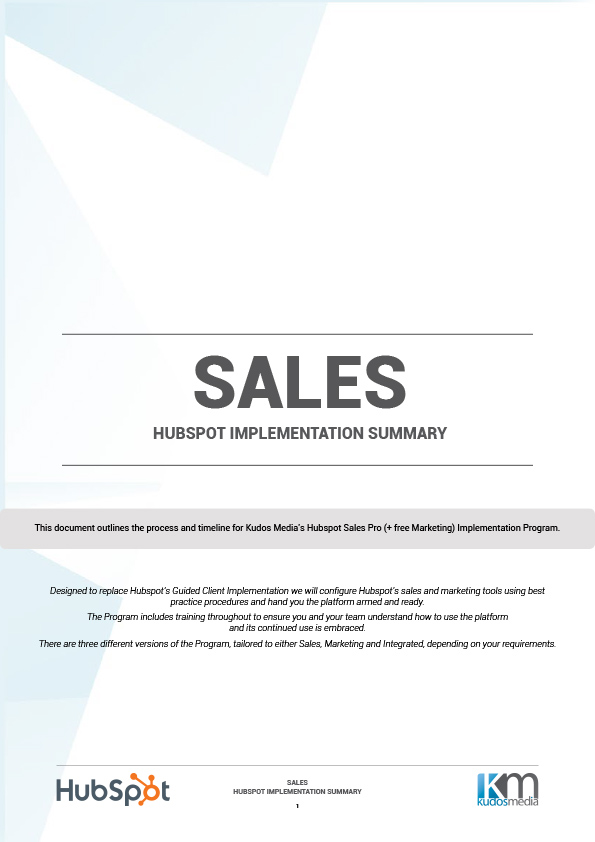 Kudos Media Hubspot Sales Implementation Program-1